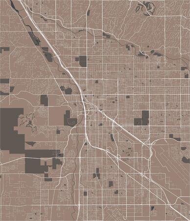 vector map of the city of Tucson, Arizona, United States America