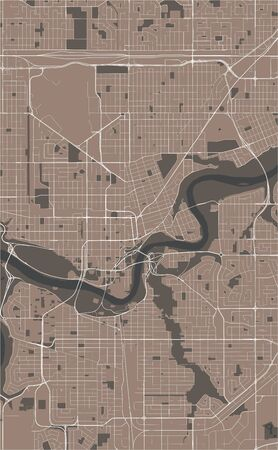 vector map of the city of Edmonton, Canada 写真素材 - 133936535