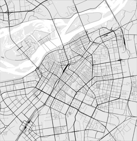vector map of the city of Harbin, China 写真素材 - 133936539