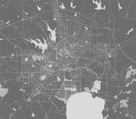 vector map of the city of Hefei, China 写真素材 - 133936536