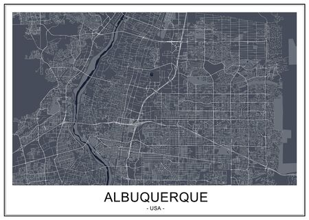 vector map of the city of Albuquerque, USA 写真素材 - 133936541