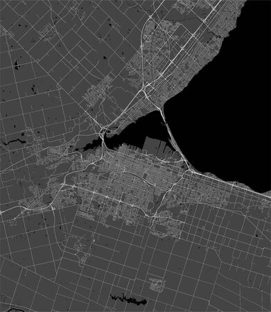 vector map of the city of Hamilton, Canada 版權商用圖片 - 133936544