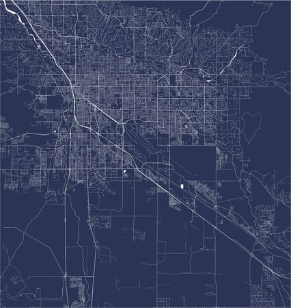 vector map of the city of Tucson, Arizona, United States America