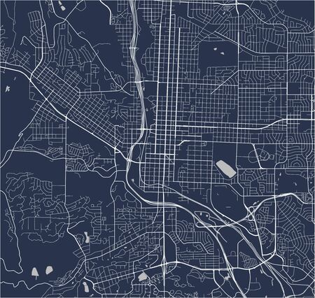 vector map of the city of Colorado Springs, Colorado, United States America Illustration