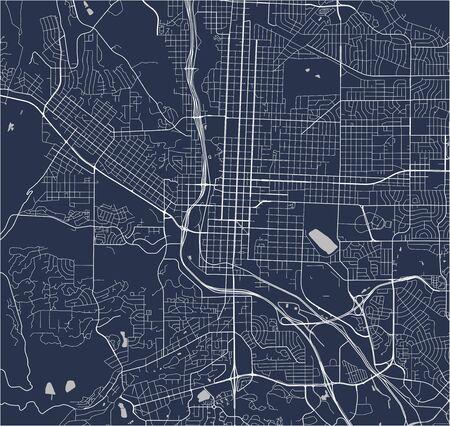 vector map of the city of Colorado Springs, Colorado, United States America 向量圖像