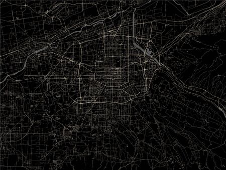 vector map of the city of Xian, China 写真素材 - 133936547