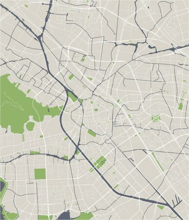 vector map of the city of Wuxi, China 写真素材 - 133936569
