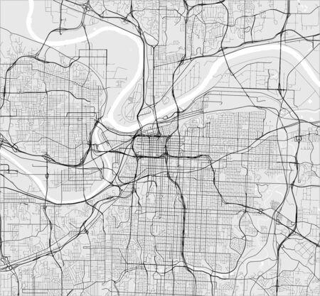 vector map of the city of Kansas City, Missouri, United States America 写真素材 - 133936571
