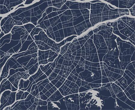 vector map of the city of Dongguan, China