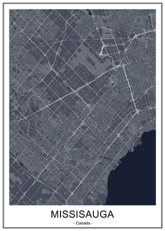 vector map of the city of Mississauga, Canada 写真素材 - 133936576