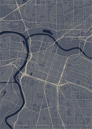 vector map of the city of, Sacramento, California, United States America