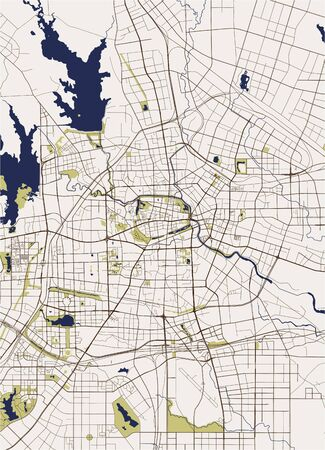 vector map of the city of Hefei, China 向量圖像