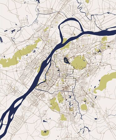 vector map of the city of Nanking, China 写真素材 - 133936575