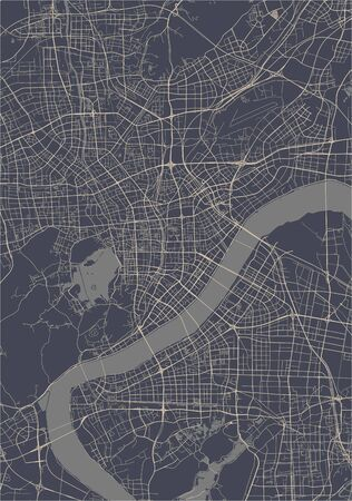 vector map of the city of Hangzhou, China 写真素材 - 133936578