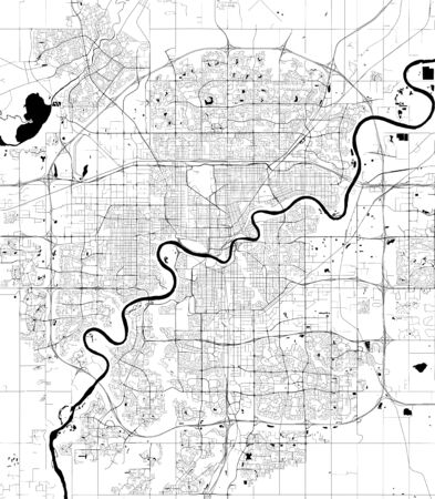 vector map of the city of Edmonton, Canada