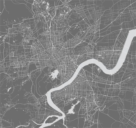 vector map of the city of Hangzhou, China 写真素材 - 133936585