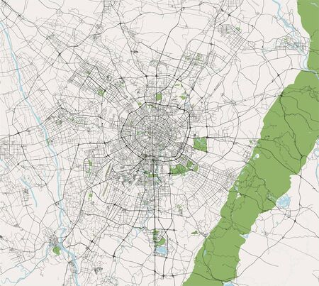 vector map of the city of Chengdu, China Ilustrace