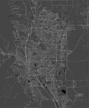 vector map of the city of Colorado Springs, Colorado, United States America 写真素材 - 134480574