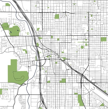 map of the city of Tucson, USA