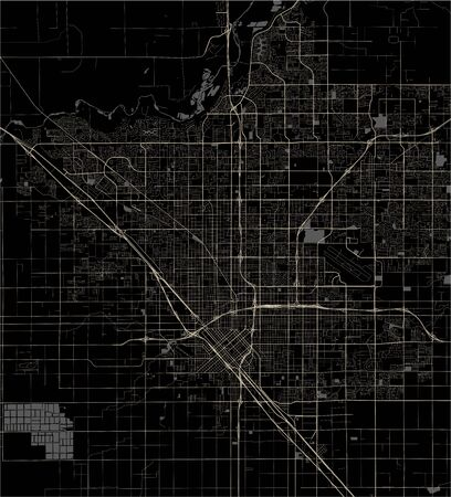 vector map of the city of, Fresno, California, United States America
