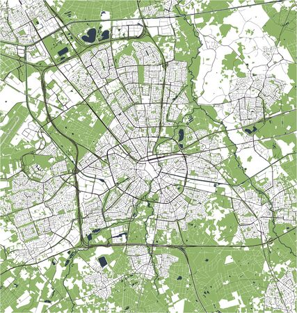vector map of the city of Eindhoven, Netherlands 写真素材 - 134481087