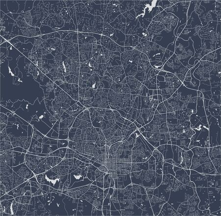 vector map of the city of Raleigh, North Carolina, United States America 写真素材 - 134481200