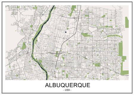 map of the city of Albuquerque, USA