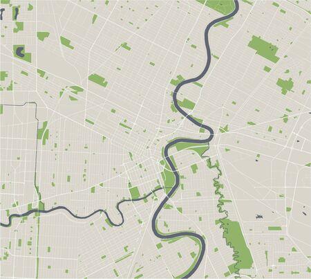 map of the city of Winnipeg, Canada Illustration