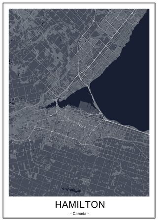vector map of the city of Hamilton, Canada 写真素材 - 134481309