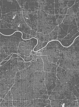vector map of the city of Kansas City, Missouri, United States America 写真素材 - 134481432