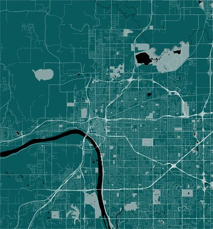 vector map of the city of Tulsa, Oklahoma, United States America 写真素材 - 134608709