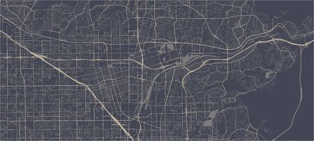 vector map of the city of Anaheim, California, United States America 向量圖像