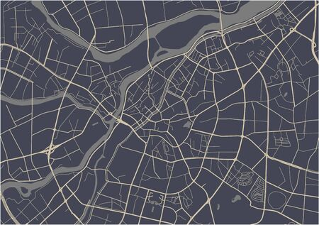 carte vectorielle de la ville de Dongguan, Chine