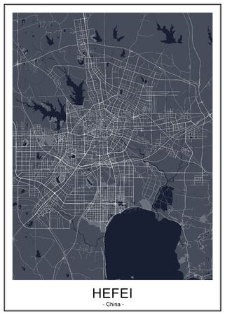 map of the city of Hefei, China