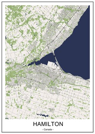 map of the city of Hamilton, Canada