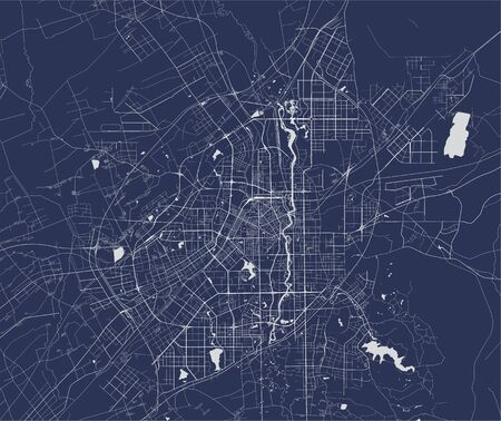 vector map of the city of Changchun, China