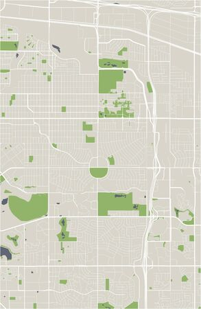 vector map of the city of Aurora, Colorado, United States America