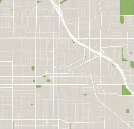 vector map of the city of Santa Ana, California, United States America