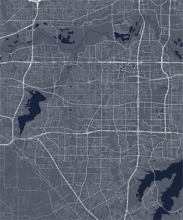 vector map of the city of Arlington, Virginia, United States America