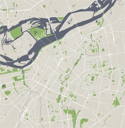 vector map of the city of Harbin, China