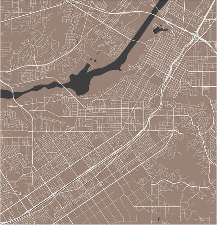 map of the city of Riverside, California, USA