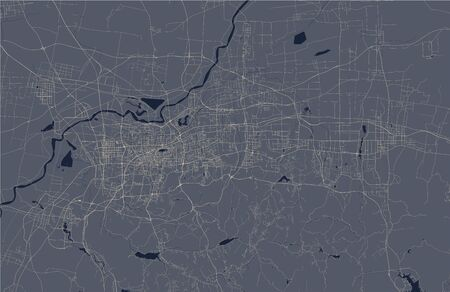 map of the city of Jinan, China  イラスト・ベクター素材