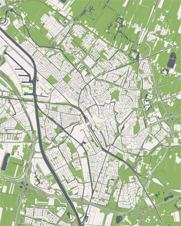map of the city of Utrecht, Netherlands