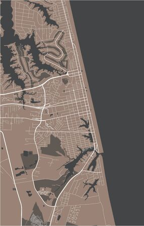 map of the city of Virginia Beach, Virginia, USA  イラスト・ベクター素材