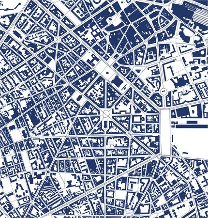 map of the city of Lille, Nord, Hauts-de-France, France