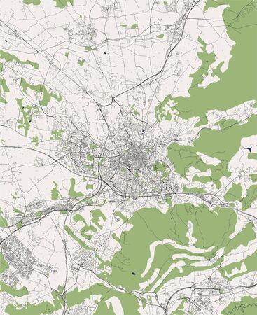 map of the city of Aix-en-Provence, Bouches-du-Rhone, Provence-Alpes-Cote dAzur France