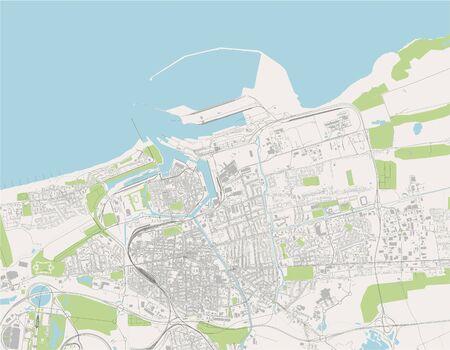 map of the city of Calais, Pas-de-Calais, Hauts-de-France, France