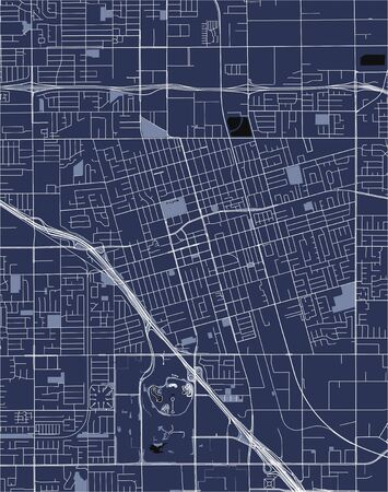 vector map of the city of Anaheim, California, United States America  イラスト・ベクター素材