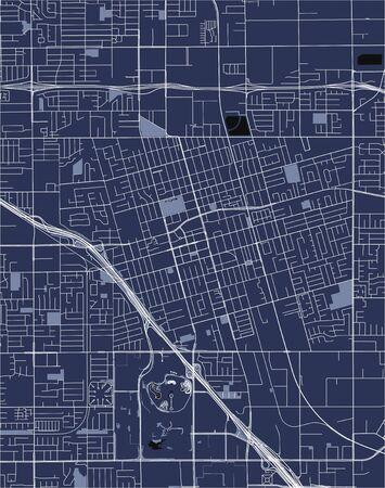 vector map of the city of Anaheim, California, United States America Illusztráció