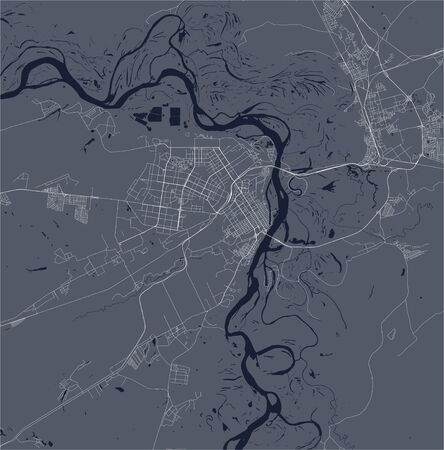 vector map of the city of Barnaul, Russia  イラスト・ベクター素材